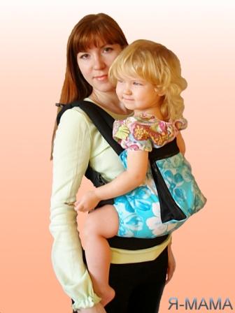 """Слинг-рюкзак """"Голубые цветы"""""""