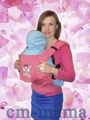 """Слинг-рюкзак """"Бабочка на розе"""""""