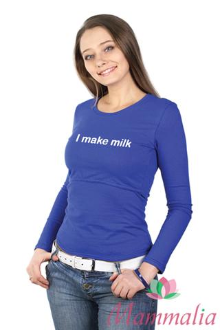"""Футболка (длинный рукав) """"I make milk"""""""